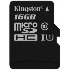Карта памяти Kingston microSDHC 16GB Class 10 UHS-I R45/W10MB/s